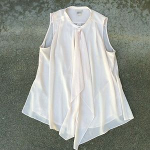 H&M Women's Business Pink Flowing Blouse Top Shirt